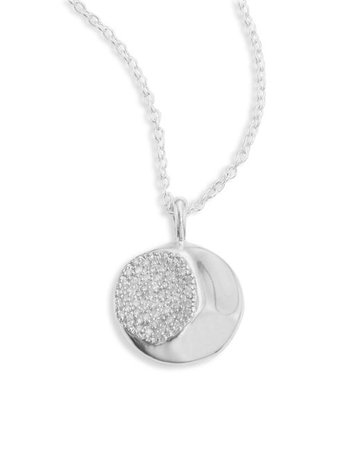 Ippolita - Metallic 925 Onda Large Diamond Pendant Necklace - Lyst