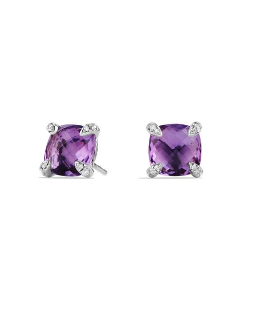David Yurman - Purple Châtelaine Earrings With Amethyst And Diamonds - Lyst