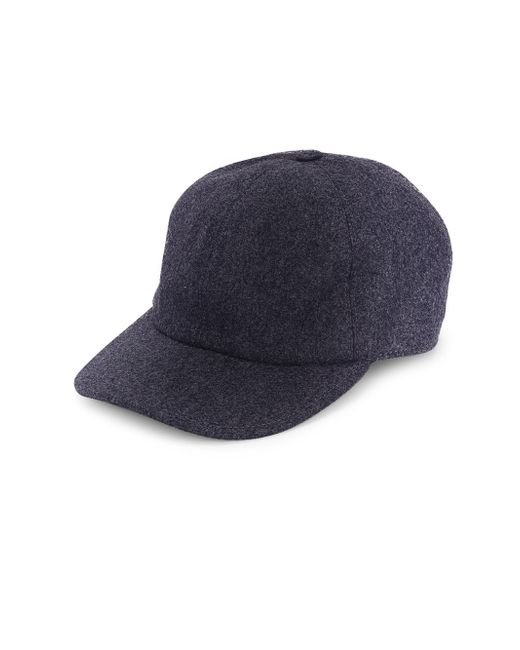 Brunello Cucinelli - Blue Flannel Baseball Hat for Men - Lyst