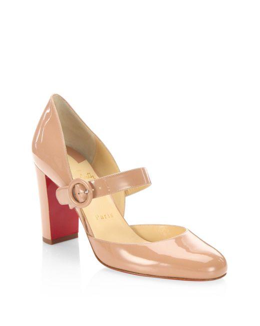 Christian Louboutin   Multicolor Miss Kawa 85 Patent Leather Mary Jane Block Heel Pumps   Lyst