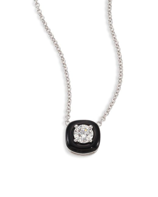 Nikos Koulis | Metallic Oui Diamond, Enamel & 18k White Gold Pendant Necklace | Lyst