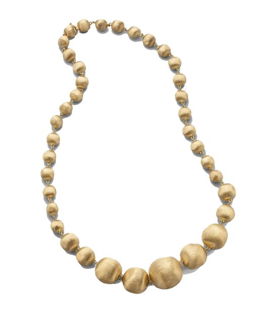 Marco Bicego | Metallic Africa 18k Yellow Gold Graduated Ball Necklace | Lyst