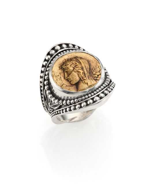 Konstantino | Metallic Kerma Bronze & Sterling Silver Coin Ring | Lyst
