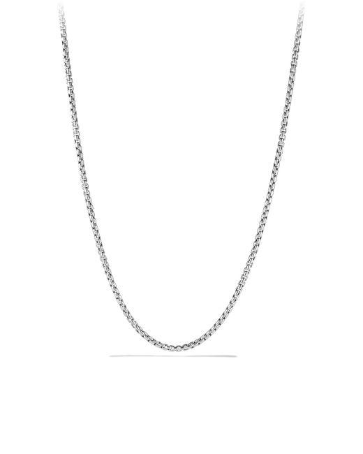 David Yurman - Metallic Small Box Chain Necklace/36 - Lyst