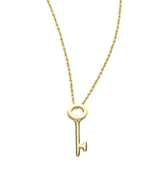 Roberto Coin | Metallic Tiny Treasures 18k Yellow Gold Key Pendant Necklace | Lyst