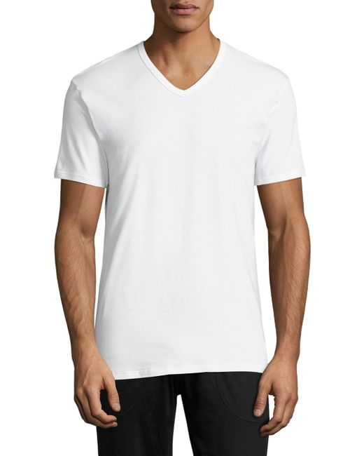 Calvin Klein   White 2-pack Stretch Cotton Tee for Men   Lyst