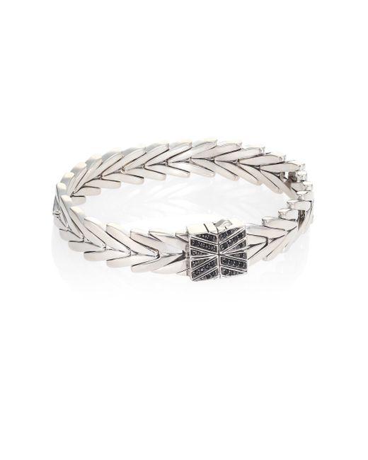 John Hardy - Metallic Modern Chain Black Spinel & Sterling Silver Bracelet - Lyst