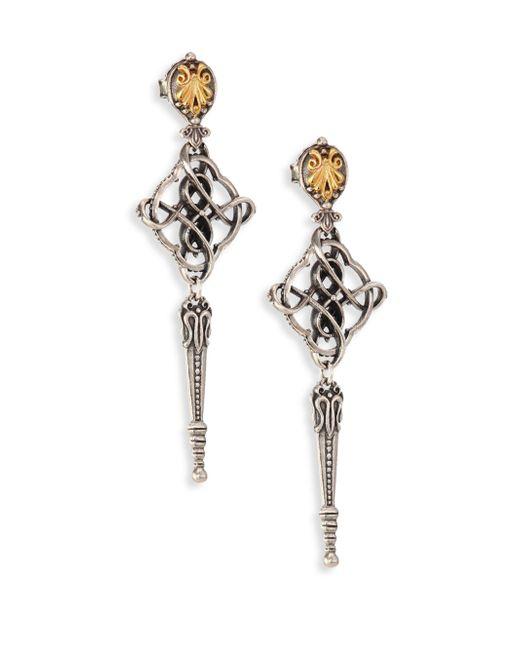 Konstantino - Metallic Penelope 18k Yellow Gold & Sterling Silver Filigree Drop Earrings - Lyst