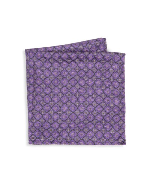 Saks Fifth Avenue | Purple Collection Medallion Diamonds Silk Pocket Square | Lyst