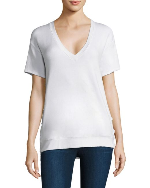 Feel The Piece - White Charles Lace-up Tee - Lyst