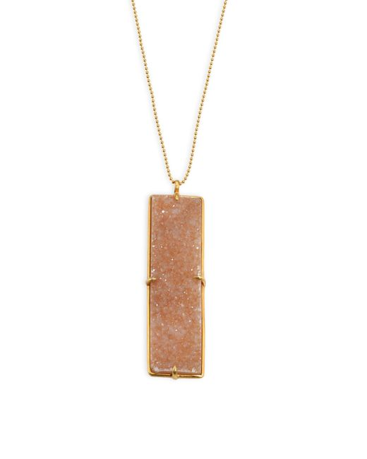 Chan Luu | Natural Agate Pendant Necklace | Lyst