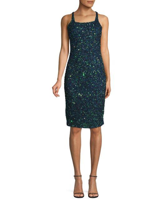 Parker Black - Multicolor Sage Beaded Strappy Dress - Lyst