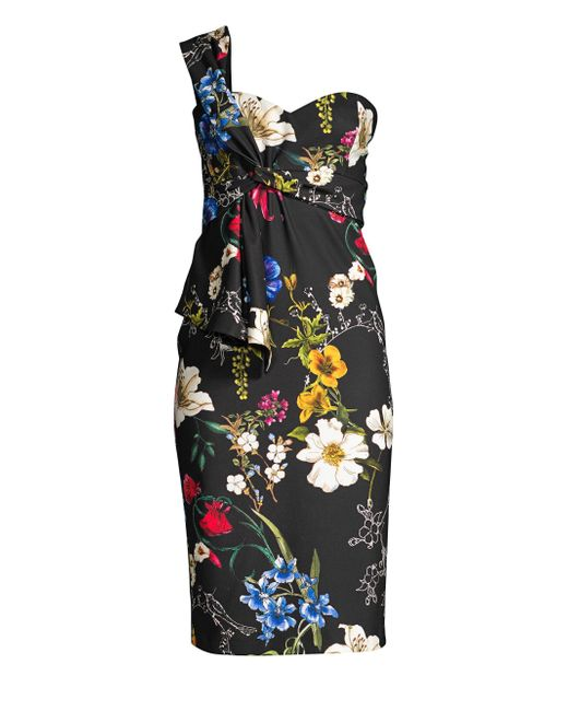 Parker - Black Kysha Floral Dress - Lyst