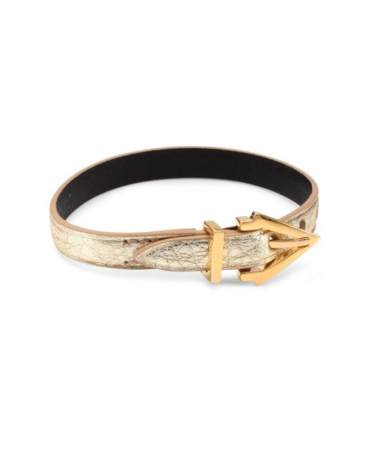 Vita Fede - Black Mini Titan Pelle Leather Bracelet/goldtone - Lyst