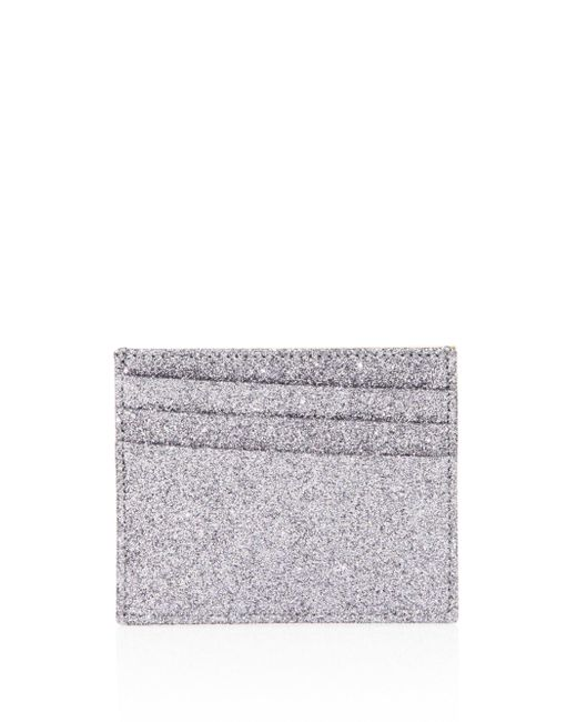 Maison Margiela | Metallic Natural Glitter Leather Card Case | Lyst