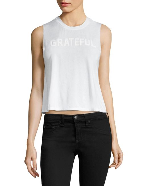 Spiritual Gangster - White Grateful Active Tank - Lyst