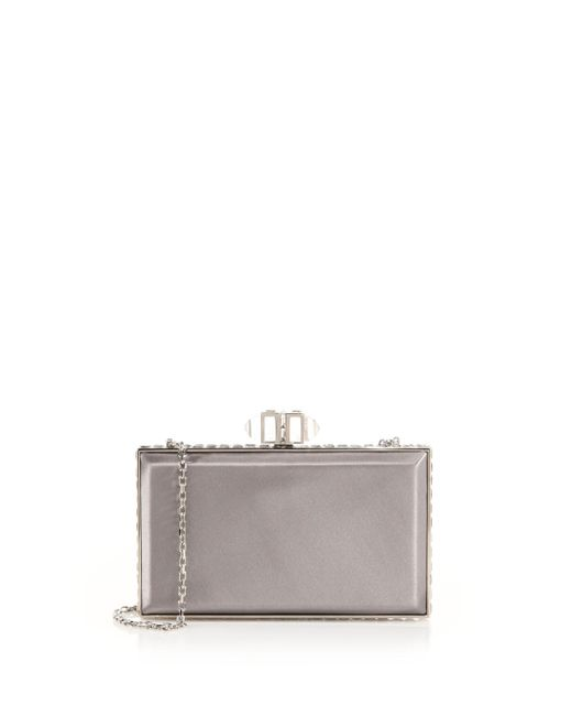 Judith Leiber Couture | Metallic Coffred Satin Rectangle Clutch | Lyst
