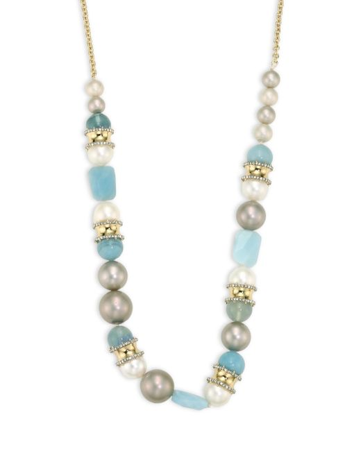 Alexis Bittar | Multicolor Elements Pearl & Sea Glass Long Necklace/32 | Lyst