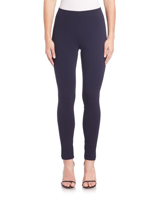 St. John | Blue Caviar Collection Cropped Ponte Leggings | Lyst