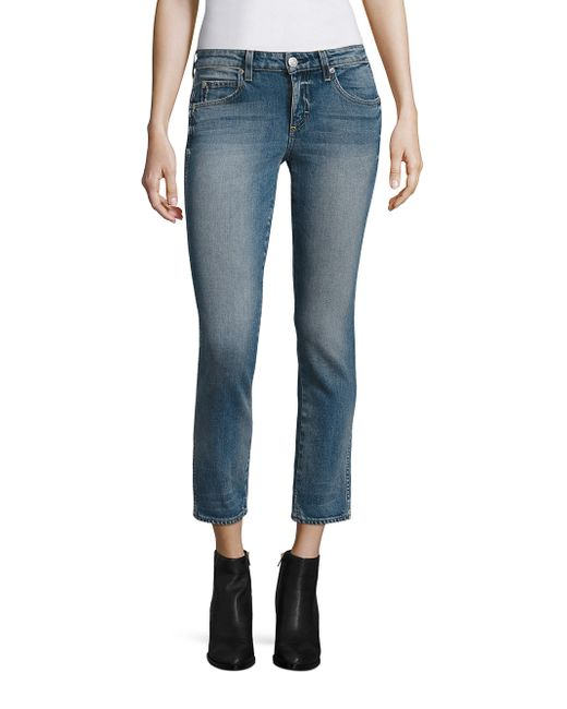AMO | Blue Kate Cropped Straight-leg Jeans | Lyst