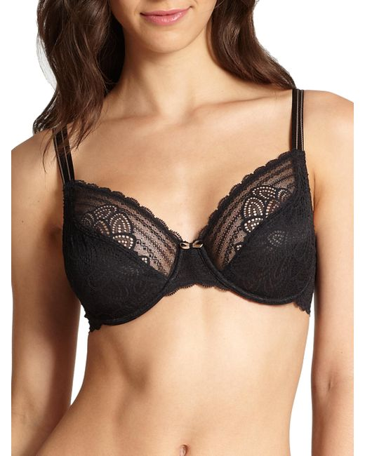 Chantelle | Black Merci Underwire Bra | Lyst