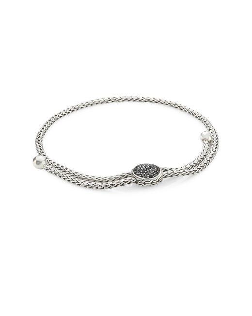John Hardy - Metallic Classic Chain Silver Ball & Black Sapphire Bracelet - Lyst