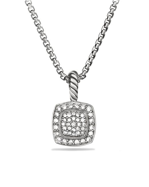 David Yurman - Metallic Petite Albion Pendant With Diamonds On Chain - Lyst