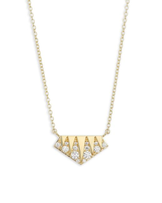 Hearts On Fire - Metallic Triplicity Diamond & Gold Pendant - Lyst