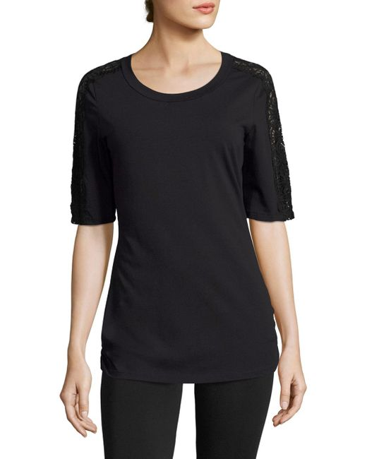 Cosabella | Black Sonia Short Sleeve Pajama Top | Lyst