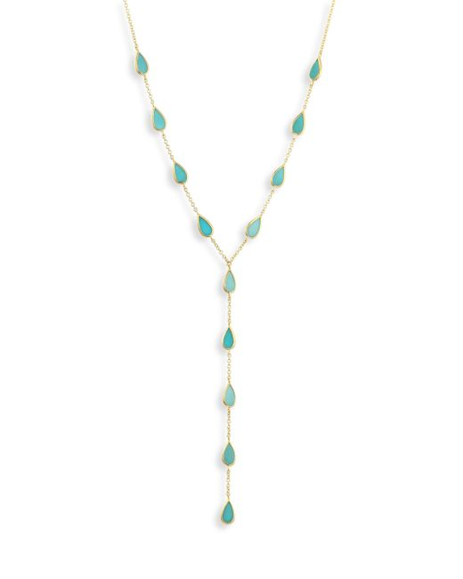 Ippolita   Metallic 18k Polished Rock Candy Turquoise Lariat Necklace   Lyst