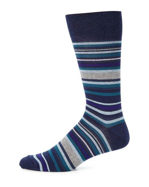 Saks Fifth Avenue | Blue Merino Striped Socks for Men | Lyst