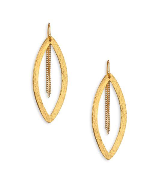 Stephanie Kantis - Metallic Paris Marquis and Tassel Single Drop Earring - Lyst