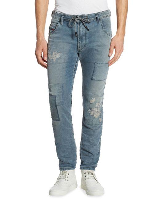 DIESEL | Blue Slim-fit Krooley Jogger Jeans for Men | Lyst