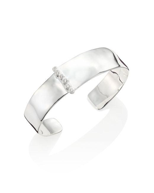 Ippolita - Metallic Glamazon Medium Diamond & Sterling Silver Cuff Bracelet - Lyst