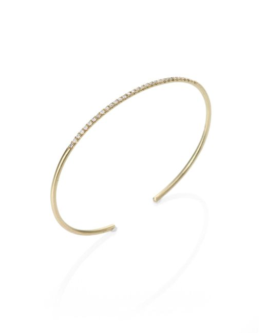 Meira T - Metallic Diamond & 14k Yellow Gold Slim Bangle Bracelet - Lyst