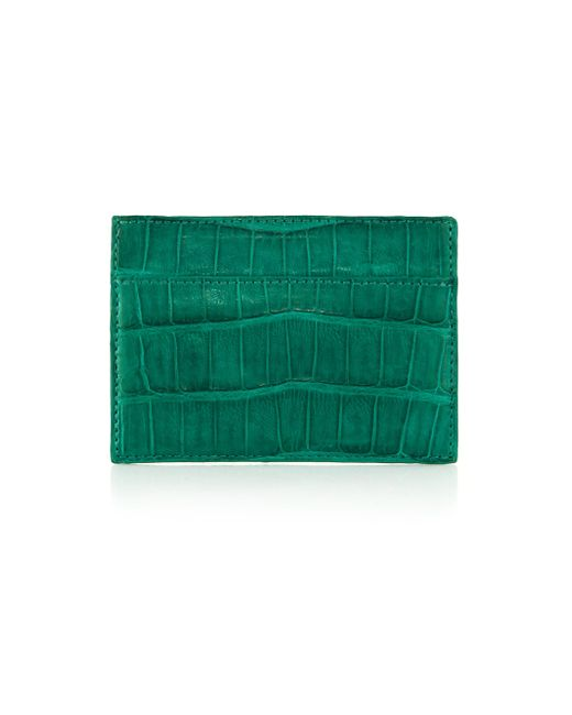 Santiago Gonzalez - Green Crocodile Card Case for Men - Lyst
