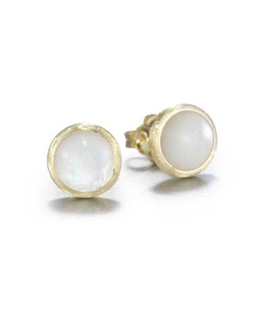 Marco Bicego - Metallic Jaipur Resort Mother-of-pearl & 18k Yellow Gold Stud Earrings - Lyst