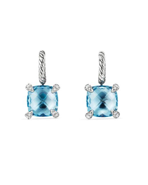 David Yurman - Blue Châtelaine Drop Earrings With Gemstone And Diamonds - Lyst