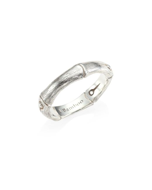 John Hardy - Metallic Bamboo Sterling Silver Band Ring - Lyst