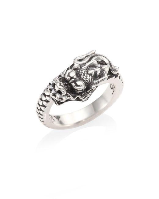 King Baby Studio | Metallic Sterling Silver Dragon Coil Ring | Lyst