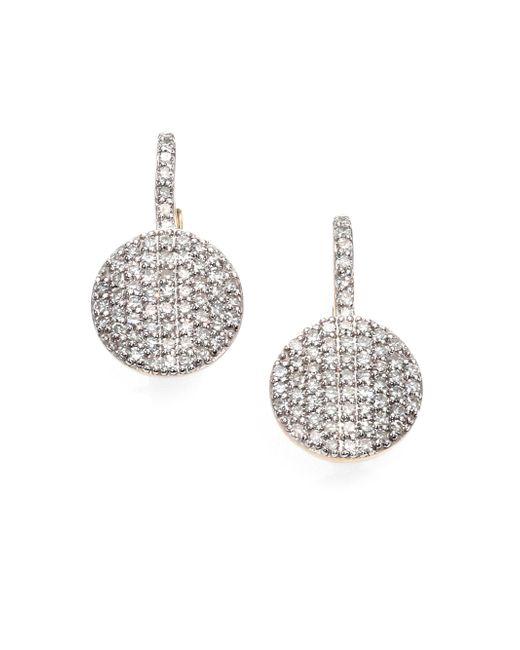Phillips House - Metallic Pavé Diamond & 14k Yellow Gold Petite Infinity Drop Earrings - Lyst