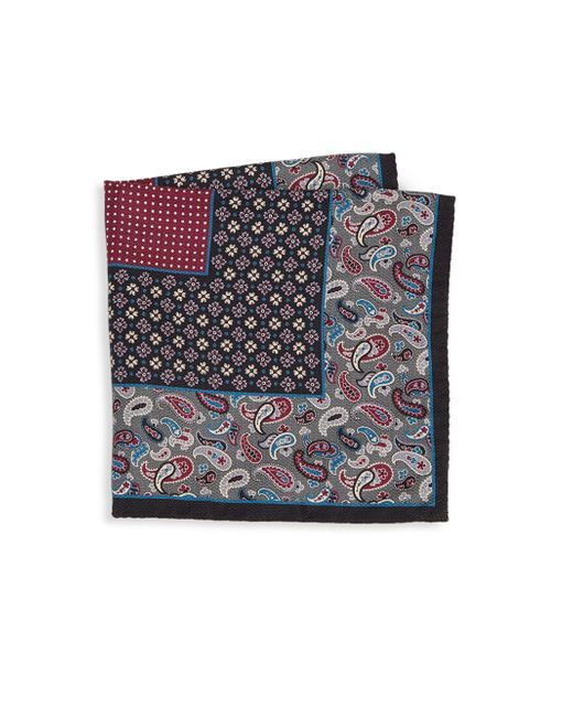 Saks Fifth Avenue - Gray Collection Paisley & Floral Boxed Silk Pocket Square for Men - Lyst