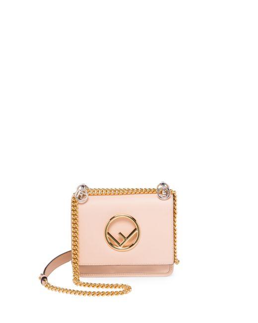 Fendi - Multicolor Small Kan I Chain Strap Leather Bag - Lyst