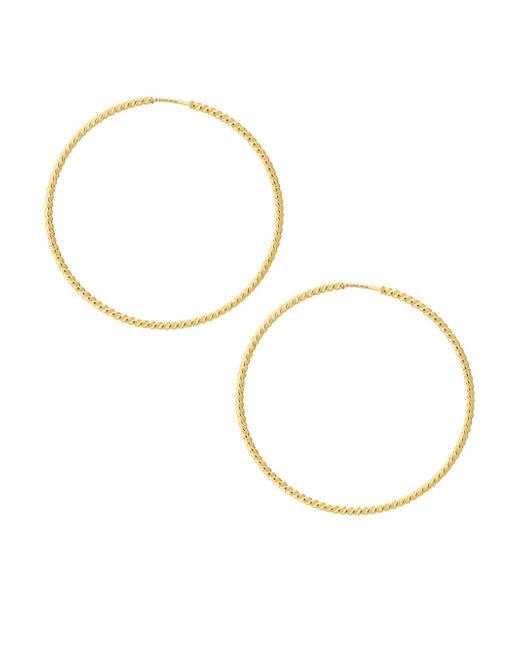 Gucci - Metallic 18k Yellow Gold Lmdm Hoop Earrings - Lyst