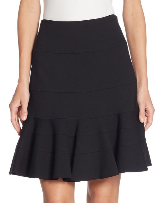 Akris Punto | Black Elements Jersey Flippy Skirt | Lyst
