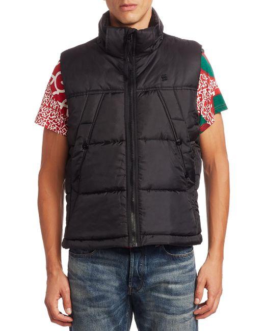G-Star RAW | Black Whistler Hooded Vest for Men | Lyst