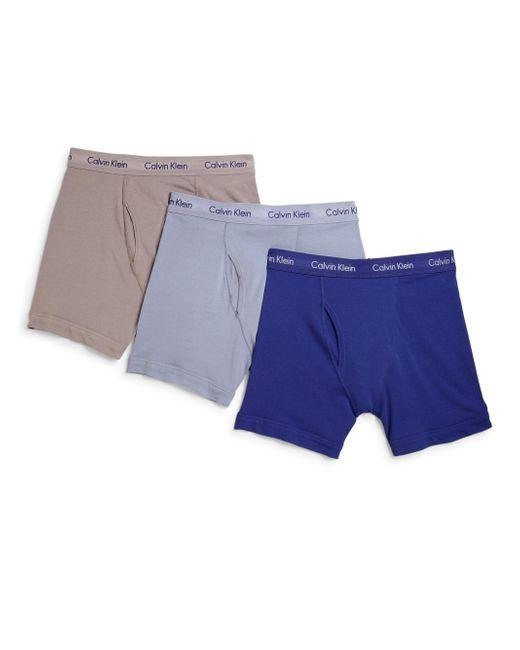 Calvin Klein | Blue Three-pack Boxer Briefs Set for Men | Lyst