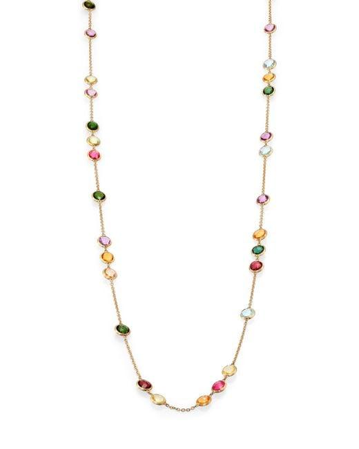 Marco Bicego - Metallic Mini Jaipur Semi-precious Multi-stone Long Station Necklace - Lyst