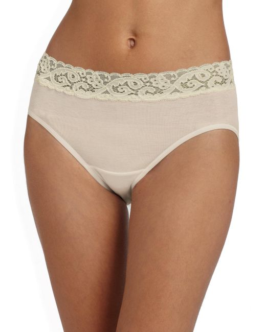 Hanro - Natural Moments Cotton Hipster Brief - Lyst