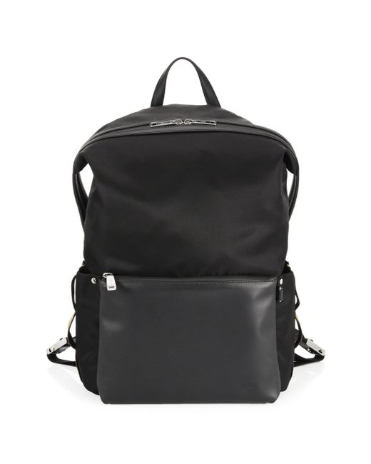 Fendi - Black Vitello Century Nylon Santander Backpack for Men - Lyst